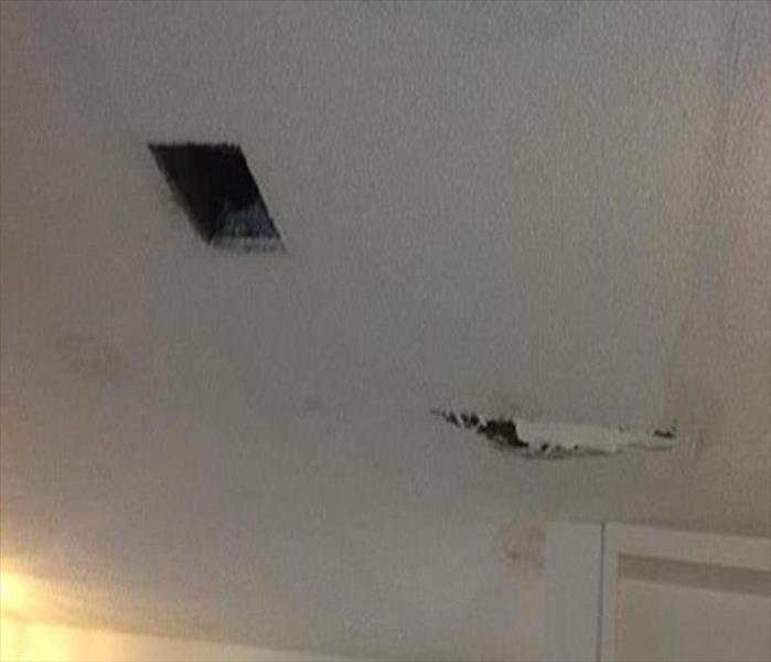 Ceiling with water damage