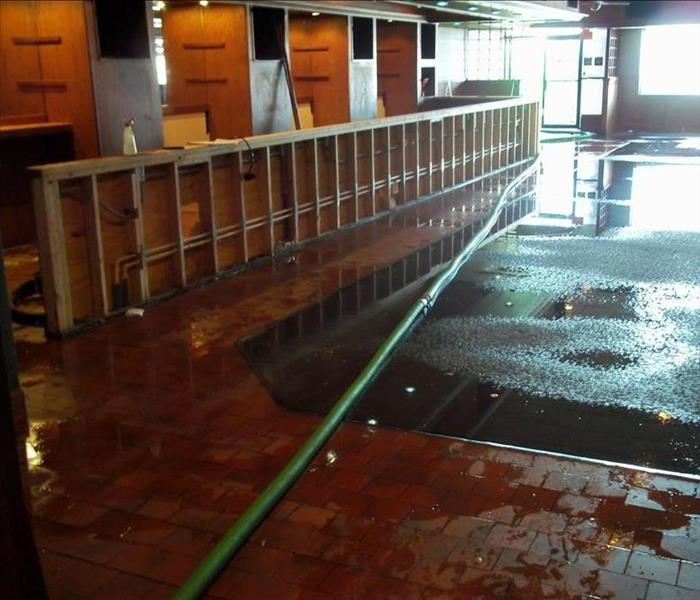 Commercial property with storm and water damage