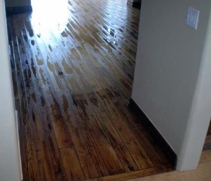 Hard wood floors repaired after water damage