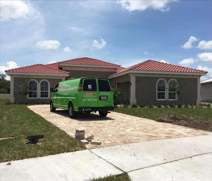SERVPRO on the scene at a homeowners house