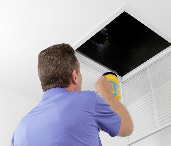 Looking at air ducts for mold in South Orlando