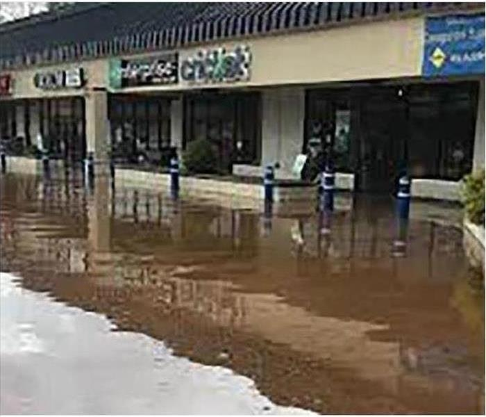 Commercial Building Flooded With Black Water